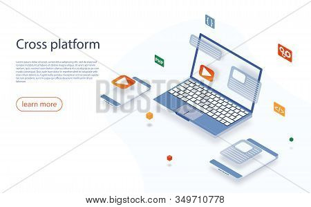 Cross Platform Development Website. Multi-platform Testing, Platform-independent Software, Cross Dev