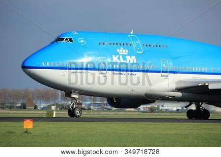 Amsterdam The Netherlands - April 7th, 2017: Ph-bfi Klm Royal Dutch Airlines Boeing 747-400m City Of