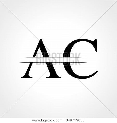 Initial Ac Letter Logo With Creative Modern Business Typography Vector Template. Creative Abstract L