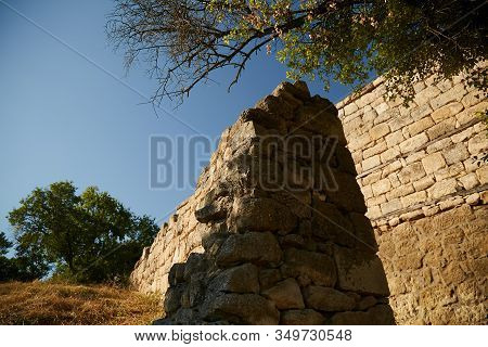 Ancient Ruins Made Of Stone. Crimean Peninsula.