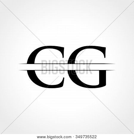 Initial Cg Letter Logo With Creative Modern Business Typography Vector Template. Creative Abstract L