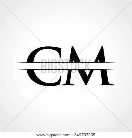 Initial Cm Letter Logo With Creative Modern Business Typography Vector Template. Creative Abstract L