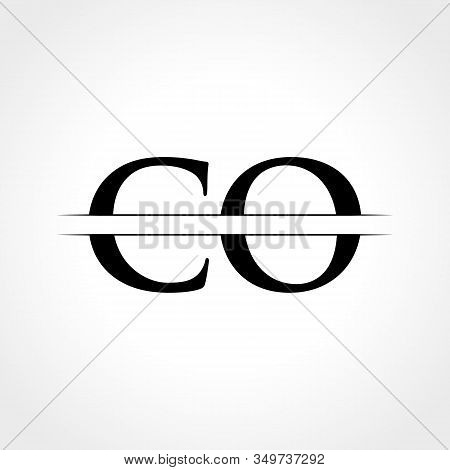 Initial Co Letter Logo With Creative Modern Business Typography Vector Template. Creative Abstract L