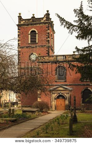 St John The Baptist Church.  St John The Baptist Is An Anglican Church Situated In Knutsford, Cheshi