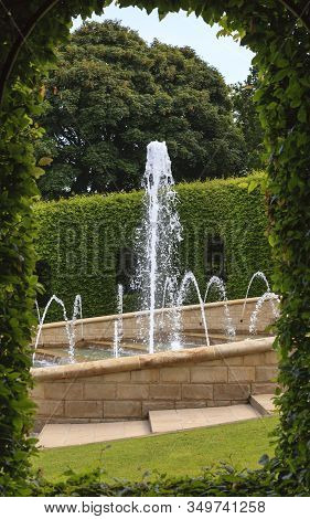 Alnwick, England - July 14:  The Grand Cascade Pictured On July 14, 2013 Is The Centrepiece Of Alnwi