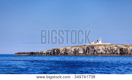Farne Islands Lighthouse.  This Lighthouse Is Situated On The Inner Farne Islands On The Northumberl