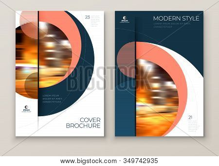 Covers With Minimal Geometric Design. Modern Abstract Backgrounds For Brochures, Placards, Posters,