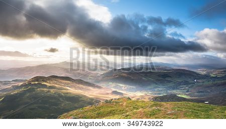 Loch Tummel, Loch Rannoch And Mountains In Perth And Kinross, Scotland
