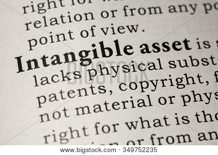 Fake Dictionary, Dictionary Definition Of Intangible Asset.