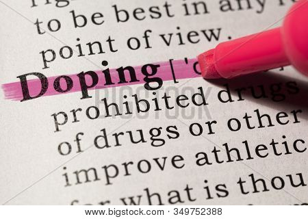 Fake Dictionary, Dictionary Definition Of Word Doping.