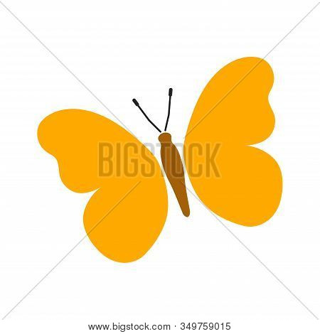 Butterflies Illustration. Butterfly Icon Vector. Colorful Butterfly Logo Isolated. Beautiful Butterf