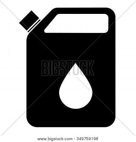 Oil Plastic Canister Icon On White Background. Flat Style. Oil Plastic Canister Icon For Your Web Si