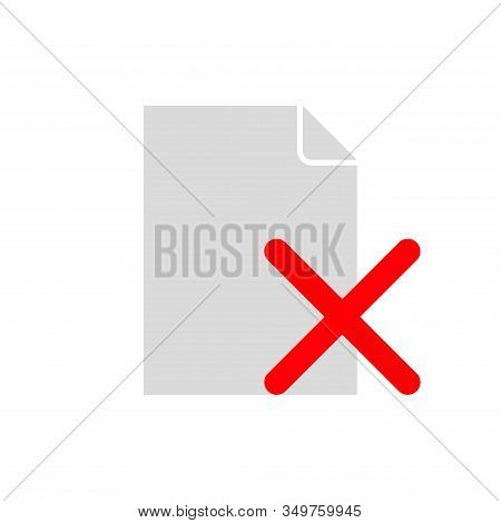 Reject Form Icon. Refusal Document Icon. Flat Illustration Of Refuse Document File Vector Icon. Refu