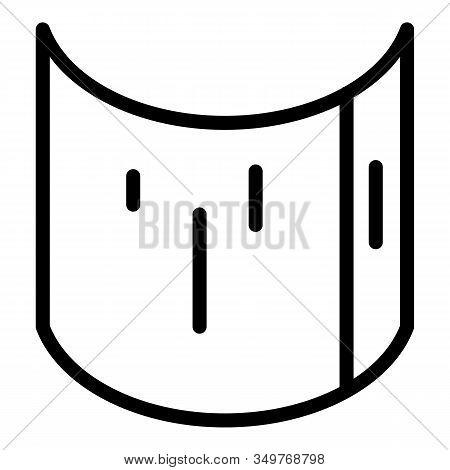 Flexible Screen Icon. Outline Flexible Screen Vector Icon For Web Design Isolated On White Backgroun