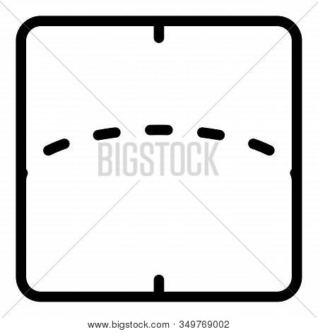 Flexible Screen Display Icon. Outline Flexible Screen Display Vector Icon For Web Design Isolated On