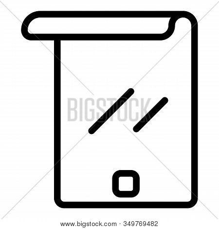 Flex Modern Screen Icon. Outline Flex Modern Screen Vector Icon For Web Design Isolated On White Bac