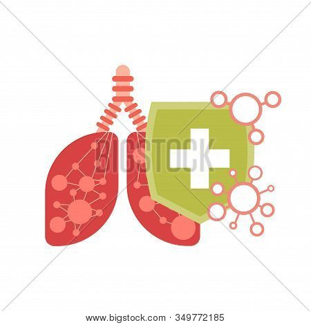 Epidemic Mers-cov Floating Influenza Human Lungs With Protective Shield Virus Protection Concept Wuh