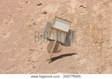 Wasteland Desolation Dry Ground Environment Outdoor Space Broken Road Sign After Disaster Landscapin