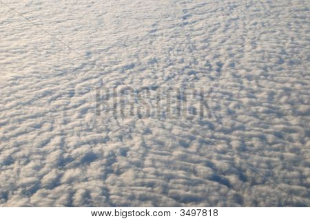 Sea Of Clouds Seen From Sky As Texture Or Background