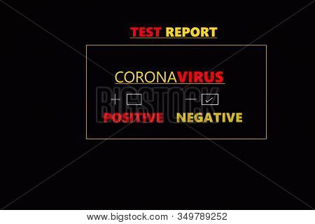 Abstract Background Of Coronavirus, Coronavirus Negative Medical Blood Test Report Result, China Chi