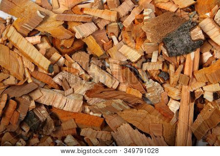Abstract Wooden Background - Kindling Wood Flat Lay. Image Contains Copy Space