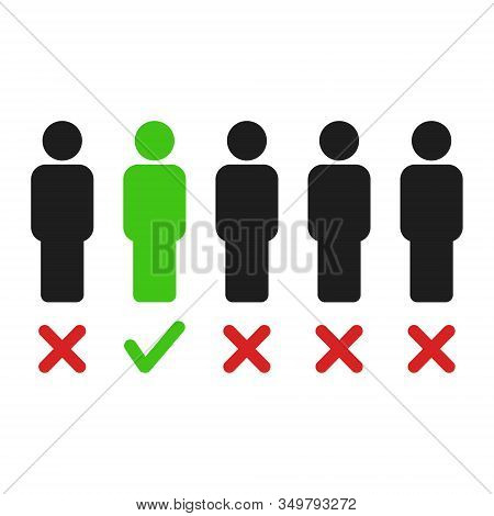 Vector Illstration Of Recruitment Concept On White Background. Isolated.