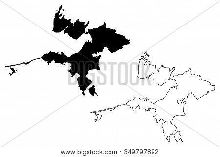 Izmir City (republic Of Turkey, Anatolia, Aegean) Map Vector Illustration, Scribble Sketch City Of I