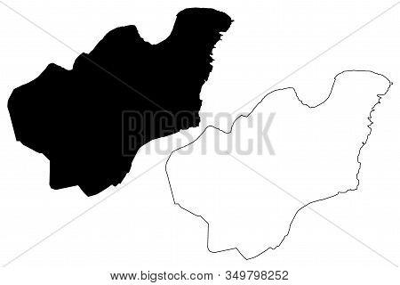 Valletta City (republic Of Malta, Island) Map Vector Illustration, Scribble Sketch City Of Valletta