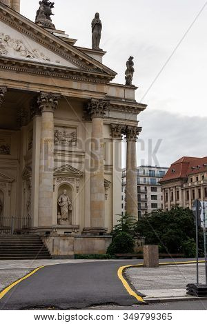 Berlin, Germany- October 9, 2019: The French Reformed Church Of Friedrichstadt Is Located In Berlin