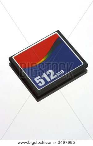 a 512 mb compact flah memory card in detail poster