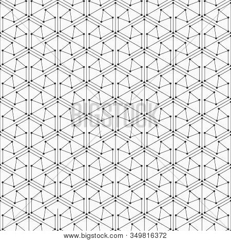 Abstract Seamless Pattern. Modern Stylish Texture. Linear Trellis. Geometric Tiles With Triangles Co
