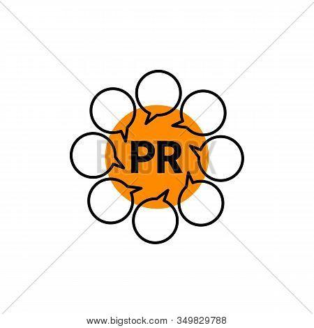 Pr Illustration With Comments Bubbles, Public Relations Vector Idea