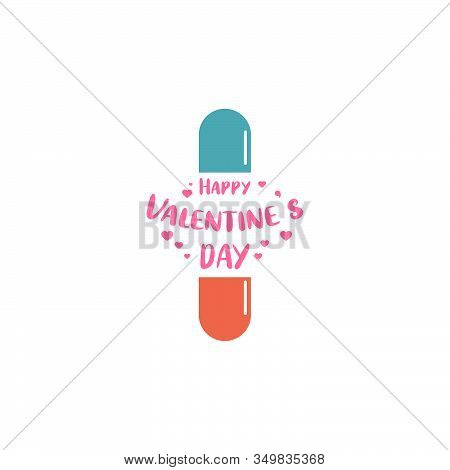 The Medical Pill For Love Graphic Design Logo Icon