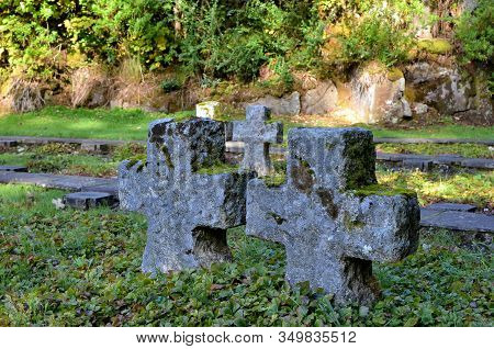 Two Small Crosses In German Military Cemetery Glencree