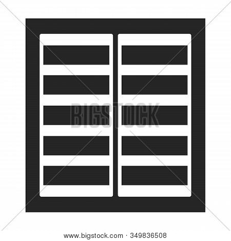 Ventilation Grate Vector Icon.black, Simple Vector Icon Isolated On White Background Ventilation Gra