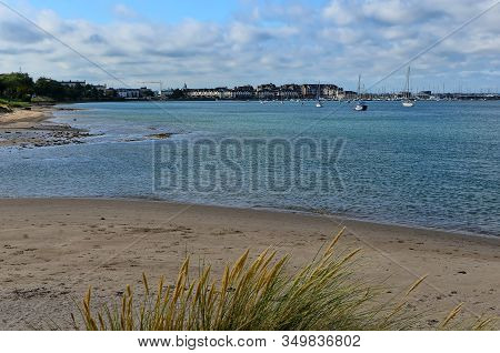 Landscape Malahide Beach City View Dublin Ireland