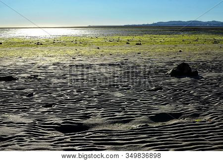 Sand In Dublin Bay In Sandymount Irishtown Nature Park