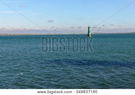 Seascape From Poolbeg Lighthouse Dublin Port