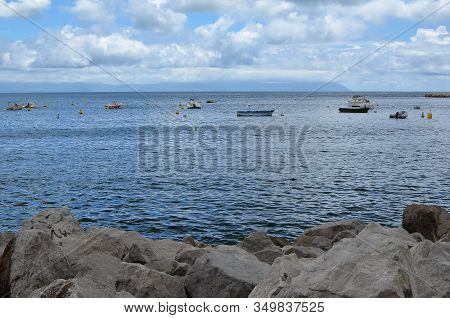 Rocks And Sea Water Nature Landscape From Naples
