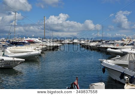 Port With Small Boats Summer Landscape Photography