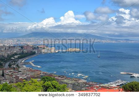 Naples Bay And Vesuv Summer Landscape Photography