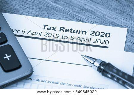 Uk Hmrc Self Assessment Income Tax Return Form 2020