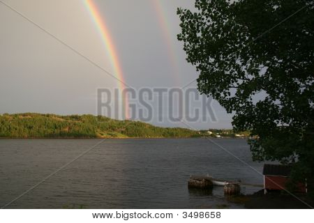 Double Rainbow And Wharf
