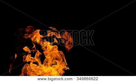 Fire Patterns. Flames On A Black Background. Fiery Patterns. Burning Flame. Blazing Fire. Phoenix,