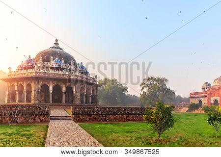 Isa Khans Tomb In The Humayuns Tomb Complex, New Delhi, India