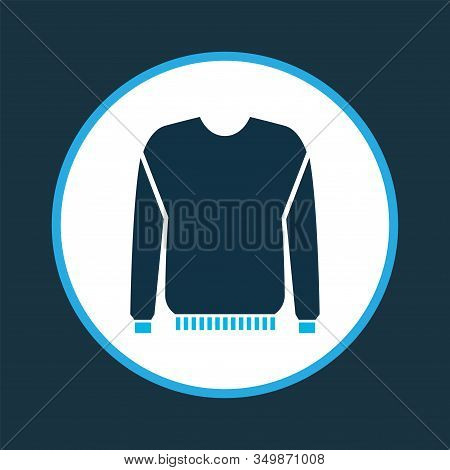 Jumper Icon Colored Symbol. Premium Quality Isolated Pullover Element In Trendy Style.