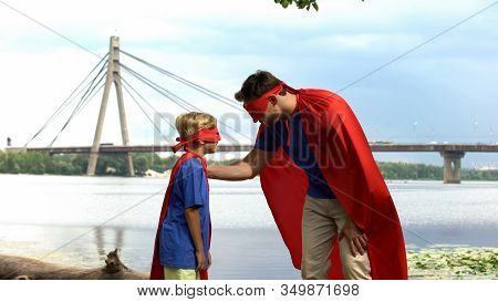 Superman Inspires Son-superhero To Win, Paternal Support, Advice For Real Man