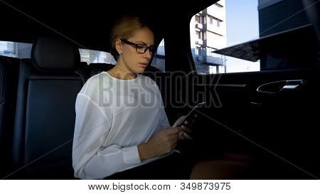 Upset Woman Reading Bad-news Message On Her Cellphone, Overdue Loan Payment