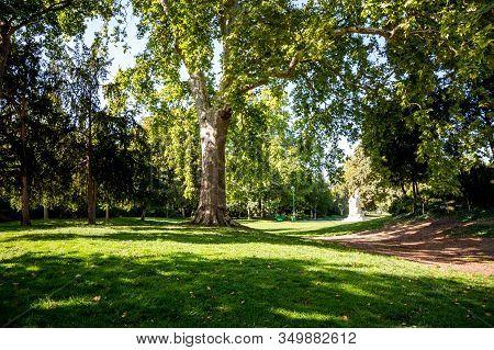 Parc Monceau Gardens And Statues, Paris, France