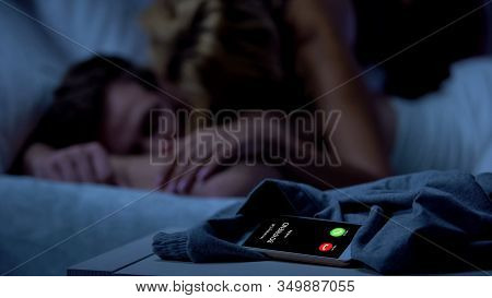 Boyfriend Calling, Woman Cheating With Lover, Unfair Relations, Betrayal